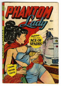 Phantom Lady #20 (Fox Features Syndicate, 1948) Condition: FN-. Matt Baker art. Bondage and electrocution panels. Overst...