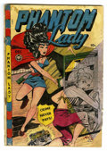 Golden Age (1938-1955):Superhero, Phantom Lady #21 (Fox Features Syndicate, 1948) Condition: FR/GD. Matt Baker art. Lingerie, strangulation, and bondage panel...