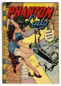 Phantom Lady #22 (Fox Features Syndicate, 1949) Condition: GD/VG. Issue has tape on spine. Matt Baker and Jack Kamen art...