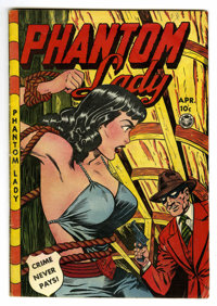 Phantom Lady #23 (Fox Features Syndicate, 1949) Condition: VG+. Bondage cover. Matt Baker and Jack Kamen art. Overstreet...