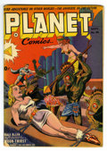 Golden Age (1938-1955):Science Fiction, Planet Comics #26 (Fiction House, 1943) Condition: FN-. SpaceRanger begins. Bondage cover. Glossy cover with white pages. O...