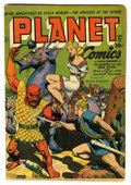 Golden Age (1938-1955):Science Fiction, Planet Comics #28 (Fiction House, 1944) Condition: VG. Bondagecover. Graham Ingles art. Overstreet 2006 VG 4.0 value = $208...