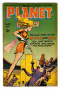 Golden Age (1938-1955):Science Fiction, Planet Comics #38 (Fiction House, 1945) Condition: GD/VG. FirstMysta of the Moon cover. Murphy Anderson and Lily Renee art....