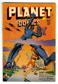 Golden Age (1938-1955):Science Fiction, Planet Comics #48 (Fiction House, 1947) Condition: FN-. Robotcover. Murphy Anderson, George Evans, and Lily Renee art. Over...