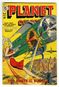 Golden Age (1938-1955):Science Fiction, Planet Comics #61 (Fiction House, 1949) Condition: VF-. George Evans, Graham Ingels, and Leonard Star art. White pages on th...