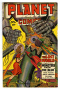 Golden Age (1938-1955):Science Fiction, Planet Comics #64 (Fiction House, 1950) Condition: FN. Robot cover.George Evans, and Joe Cavallo art. Overstreet 2006 FN 6....