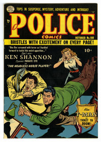 Police Comics #108 Mile High pedigree (Quality, 1951) Condition: NM-. Reed Crandall art. Overstreet 2006 NM- 9.2 value =...
