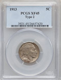 Buffalo Nickels: , 1913 5C Type Two XF45 PCGS. PCGS Population (7/2547). NGC Census:(5/1708). Mintage: 29,858,700. Numismedia Wsl. Price for ...