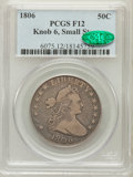 Early Half Dollars: , 1806 50C Knobbed 6, Small Stars Fine 12 PCGS. CAC. PCGS Population(10/70). NGC Census: (0/63). ...
