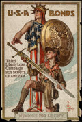 "Movie Posters:War, World War I Propaganda (U.S. Government Printing Office, 1917).Poster (20"" X 30"") ""Weapons for Liberty."" War.. ..."