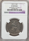 Seated Half Dollars, 1876-S 50C -- Improperly Cleaned -- NGC Details. XF. NGC Census:(6/160). PCGS Population (13/220). Mintage: 4,528,000. Num...