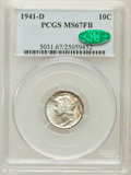 Mercury Dimes: , 1941-D 10C MS67 Full Bands PCGS. CAC. PCGS Population (544/23). NGCCensus: (443/5). Mintage: 46,634,000. Numismedia Wsl. P...