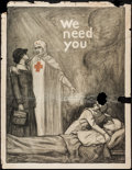 "Movie Posters:War, World War I Propaganda (Red Cross, 1918). Poster (30.5"" X 39.75"")""We Need You."" War.. ..."