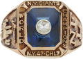 Football Collectibles:Others, 1956 New York Giants NFL Championship Ring....