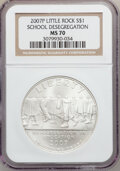 Modern Issues, 2007-P $1 Little Rock MS70 NGC. NGC Census: (1727). PCGS Population(413). Numismedia Wsl. Price for problem free NGC/PCGS...