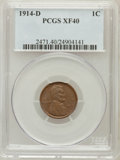 Lincoln Cents: , 1914-D 1C XF40 PCGS. PCGS Population (371/839). NGC Census:(159/643). Mintage: 1,193,000. Numismedia Wsl. Price for proble...
