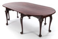 Furniture , AN ENGLISH GEORGE III-STYLE MAHOGANY WAKE TABLE . Circa 1900. 30 x 92-1/4 x 51 inches (76.2 x 234.3 x 129.5 cm) (leaves exte...