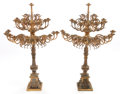 Decorative Arts, Continental:Lamps & Lighting, A PAIR OF GILT BRONZE TWENTY-LIGHT CANDELABRA . Circa 1900. 48-1/2x 21 x 26 inches (123.2 x 53.3 x 66.0 cm). ... (Total: 2 Items)