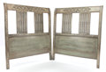 Furniture , A PAIR OF NEOCLASSICAL HEADBOARDS . 20th century. 45-1/2 x 39-3/4 inches (115.6 x 101.0 cm). ... (Total: 2 Items)