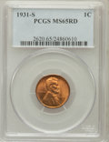 Lincoln Cents: , 1931-S 1C MS65 Red PCGS. PCGS Population (751/84). NGC Census:(235/23). Mintage: 866,000. Numismedia Wsl. Price for proble...
