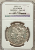 Morgan Dollars: , 1894 $1 -- Improperly Cleaned -- NGC Details. XF. NGC Census:(151/2193). PCGS Population (289/2973). Mintage: 110,972. Num...