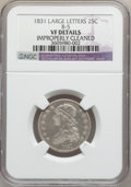 Bust Quarters, 1831 25C Large Letters -- Improperly Cleaned -- NGC Details. VF.B-5. NGC Census: (7/487)....