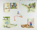 Books:Prints & Leaves, [Garth Williams]. Rosemary Wells. Group of Five Illustrations byGarth Williams for Emmett's Pig, With Original Ap... (Total:5 Items)
