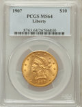 Liberty Eagles, 1907 $10 MS64 PCGS....