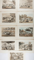Books:Prints & Leaves, [Perry's Expedition]. Group of Nine Original Tinted Lithographsfrom Narrative of the Expedition of an American Squadron...