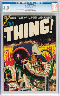 The Thing! #15 (Charlton, 1954) CGC VF 8.0 Cream to off-white pages