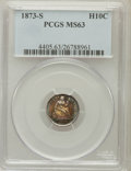 Seated Half Dimes: , 1873-S H10C MS63 PCGS. PCGS Population (58/110). NGC Census:(46/133). Mintage: 324,000. Numismedia Wsl. Price for problem ...