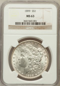 Morgan Dollars: , 1899 $1 MS63 NGC. NGC Census: (2556/3476). PCGS Population(3521/4962). Mintage: 330,846. Numismedia Wsl. Price for problem...