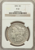 Morgan Dollars: , 1894 $1 Fine 12 NGC. NGC Census: (56/2666). PCGS Population(55/3873). Mintage: 110,972. Numismedia Wsl. Price for problem ...