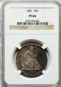 Proof Seated Half Dollars, 1881 50C PR64 NGC....