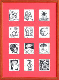 Fine Art - Work on Paper:Print, VARIOUS CUBAN ARTISTS (20th Century). Portfolio of 12 Prints Illustrating the Months of the Year. Lithographs. 27-1/2 x ...