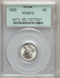 Mercury Dimes: , 1929 10C MS65 Full Bands PCGS. PCGS Population (336/246). NGCCensus: (118/74). Mintage: 25,970,000. Numismedia Wsl. Price ...