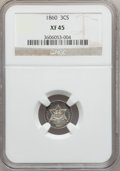 Three Cent Silver: , 1860 3CS XF45 NGC. NGC Census: (10/263). PCGS Population (13/309).Mintage: 286,000. Numismedia Wsl. Price for problem free...