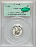Mercury Dimes: , 1934 10C MS65 Full Bands PCGS. CAC. PCGS Population (524/589). NGCCensus: (166/217). Mintage: 24,080,000. Numismedia Wsl. ...