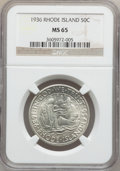 Commemorative Silver: , 1936 50C Rhode Island MS65 NGC. NGC Census: (1006/347). PCGSPopulation (1156/518). Mintage: 20,013. Numismedia Wsl. Price ...