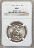 Commemorative Silver: , 1918 50C Lincoln MS63 NGC. NGC Census: (588/3181). PCGS Population(1360/3990). Mintage: 100,058. ...