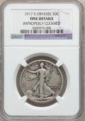 Walking Liberty Half Dollars: , 1917-S 50C Obverse -- Improperly Cleaned -- NGC Details. Fine. NGCCensus: (15/366). PCGS Population (42/546). Mintage: 952...