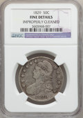 Bust Half Dollars: , 1829 50C Small Letters -- Improperly Cleaned -- NGC Details. Fine.NGC Census: (5/1133). PCGS Population (11/1423). Mintage...