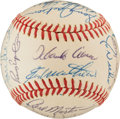 Baseball Collectibles:Balls, 1973 Atlanta Braves Team Signed Baseball (24 Signatures)....