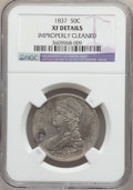 Reeded Edge Half Dollars: , 1837 50C -- Improperly Cleaned -- NGC Details. XF. NGC Census:(55/1061). PCGS Population (115/1074). Mintage: 3,629,820. N...