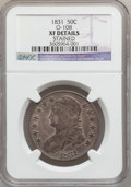 Bust Half Dollars: , 1831 50C -- Stained -- NGC Details. XF. O-108. NGC Census:(76/1323). PCGS Population (134/1420). Mintage: 5,873,660. Numi...