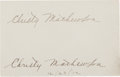 Autographs:Others, 1912 Christy Mathewson Double-Signed Page with Extraordinary Provenance. ...