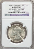 Commemorative Silver: , 1936 50C Lynchburg -- Improperly Cleaned -- NGC Details. UNC. NGCCensus: (0/2475). PCGS Population (2/3823). Mintage: 20,0...