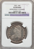 Bust Half Dollars: , 1822 50C -- Improperly Cleaned -- NGC Details. XF. NGC Census:(37/478). PCGS Population (77/578). Mintage: 1,559,573. Numi...