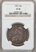 Bust Half Dollars: , 1830 50C Small 0 VF30 NGC. NGC Census: (58/1625). PCGS Population(77/1476). Mintage: 4,764,800. Numismedia Wsl. Price for ...