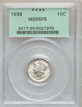 Mercury Dimes: , 1939 10C MS65 Full Bands PCGS. PCGS Population (324/413). NGCCensus: (66/131). Mintage: 67,749,320. Numismedia Wsl. Price ...